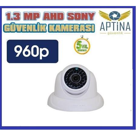 1.3 MP AHD Aptina 54 IR Led Dome Güvenlik Kamerası