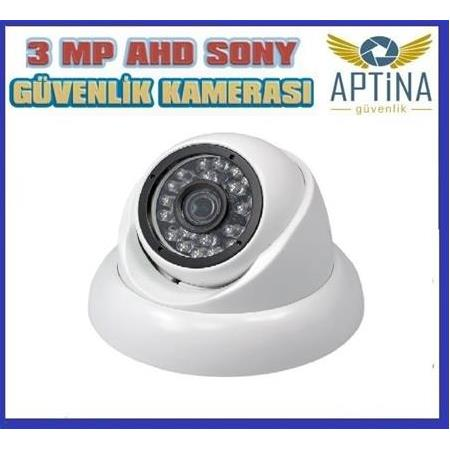 3 MP LENS 1080 P Dome Guvenlik Kamerası Sony Aptina